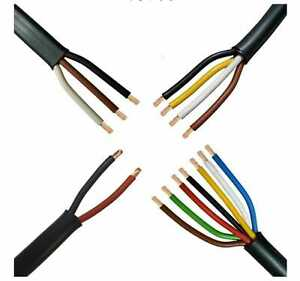7 Core Automotive Thinwall Cable 0.5mm 11A 1mm 16.5A Towing Trailer Cable 12v