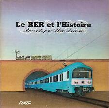 VINYLE 33 TOURS  EP LE RER ET L'HISTOIRE RACONTES PAR ALAIN DECAUX TRAIN RATP