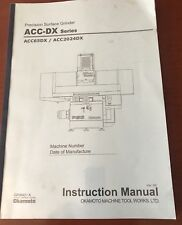 Okamoto Instruction Manual For Acc-DX Series Grinder