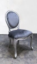 FRENCH OCCASIONAL CHAIR SILVER SHABBY CHIC HAND MADE