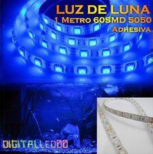 LUZ DE LUNA 1 METRO TIRA LED AZUL ADHESIVA DIMEABLE  LEDS 5050SMD IP65 ACUARIO