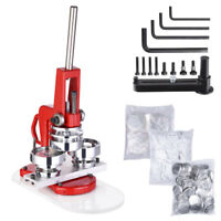 """2 1/4"""" 58mm Button Maker Badge Punch Press Machine with 1000 Parts Circle Cutter"""