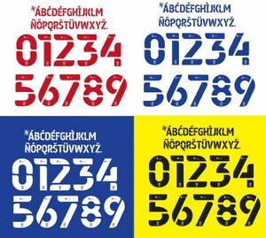 EFL Championship 2020-2022 Build Your Own Football Nameset 2 Nos 10 Letters