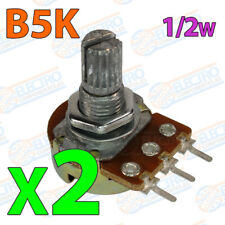 2x Potenciometro B5K ohm lineal 0,5w 15mm Linear Potentiometer Shaft alpha