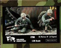 Verlinden 1:35 US Marines IV - 2 Resin Figures Kit #1790