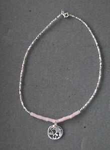 SILPADA - N2192 - Pink Seed Bead Soapstone Pearl Sterlin Silver Pendant Necklace