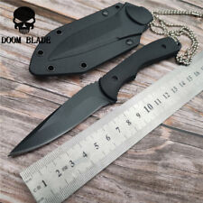 Fixed Blade G10 Handle Tactical Camping Surviving Knife &ABS Sheath Tool Knives