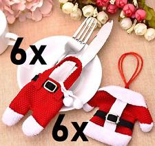 Weihnachts Besteck Taschen 6 Jacken 6 Hosen Christmas Fork and Knife Bags