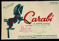 Ancien buvard vêtement enfant CARABI Bonneterie Blaisse Nancy