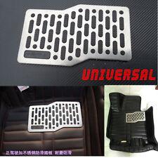 Waterproof Car Floor Mats Stainless Steel Heel Plate Pedal Carpet Foot Rest Mat
