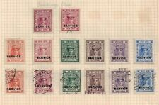 Indian Feudatory States Indore Official stamp page, mint & used,1904-6
