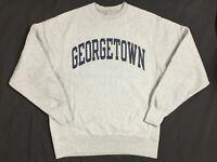 Vintage Georgetown Champion Reverse Weave Sweatshirt Heather Gray Men's Small
