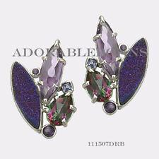 Authentic Lori Bonn Sterling Silver Pizzazz Cluster Earrings 111507DRB