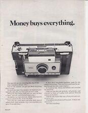 Polaroid Model 350 Camera - Original Magazine Print AD - MONEY BUYS EVERYTHING