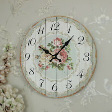 Madera Casa De Campo Estilo Color Rosa Reloj de pared envejecido Country Chic