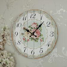 Reloj De Pared Rosa De Madera Estilo Rústico Cocina Country Chic gastadas Pasillo
