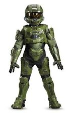 Halo Master Chief Halloween Costume Boys Kids Child Armor Jumpsuit Large Green