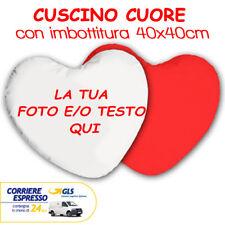 CUSCINO CUORE IMBOTTITO RETRO ROSSO cm40X40 Personalizzato con FOTO