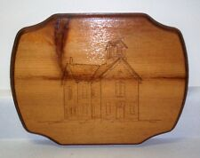 Original Wood Burning - Old Town Hall - Strongsville Ohio
