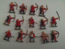 Essex 28mm Oscuro Edad/Medieval arqueros X 14 parte Die Cast Metal v.g.c. Pintado