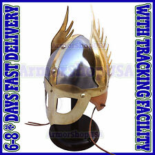 Medieval Norman Viking Mask Helmet King Armor Helm Fully Wearable w/ Inner Liner