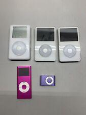 Mixed Ipod Lot 4th 20Gb 5th 30Gb Generation Ipod Nano Untested