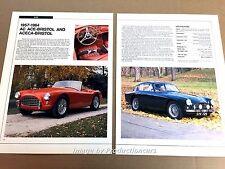 AC Ace-Bristol Aceca-Bristol Original Car Review Print Article J671  1960 1961