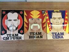 "lot of 3 20""x15"" WWE Magazine posters pin ups Team CMP, Team Cena, Team Hogan"