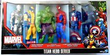 """Marvel Titan Hero Series Set of 6 12"""" Action Figures Target Exclusive 2013 NEW"""