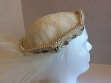 New listing Vintage Ivory Lace Bridal/Wedding Tulle Veil With Pearl Trim