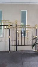 Antique Reproduction Cast Iron and Brass Bed - Queen