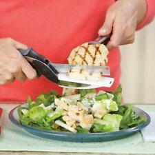 New  2-in-1 Clever Cutter  Stainless Steel  Knife and  Cutting Board Scissors