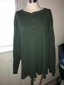 Foundry Men's Size 3X Tall Shirt. Green Long Sleeve