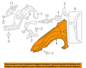 Lincoln FORD OEM 07-09 MKZ-Front Fender Right 6H6Z16005AA