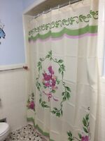 Springtime Victorian Flower Bouquet Shower Curtain Vintage Floral Bath Curtain
