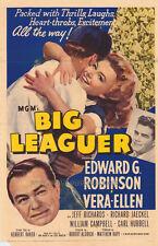 BIG LEAGUER Movie POSTER 27x40 Edward G. Robinson Vera-Ellen Jeff Richards
