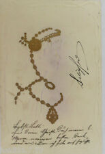 """ femmes, ART NOUVEAU "" 1900, goldprägekarte (4033)"