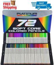 72 Prismacolor Premier Colored Pencils Platinum Soft Core Artist Paint Tin Case