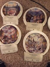 """Danbury Mint Collection """"God Bless America� Set Of 4 Plates"""
