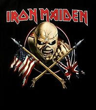 IRON MAIDEN cd cvr The Trooper CROSSED FLAGS Official SHIRT LRG new