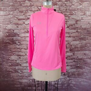 Under Armour Womens Half Zip Pullover Longsleeve Shirt Pink Small Free Shipping