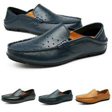 Mens Driving Moccasins Leather Shoes Pumps Slip on Loafers Hollow out Casual D