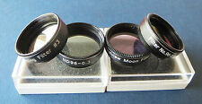 """Set of 4 Superior Threaded Colour Filters for 1.25"""" Telescopes, Brand New, SALE!"""