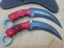 Customized Handmade Moqen,s Damascus Steel Vampire Karambit knife
