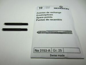 BERGEON 3153-A SPARE 3MM FORKS FOR 3153 SPRING BAR TOOL (PACK OF 5)