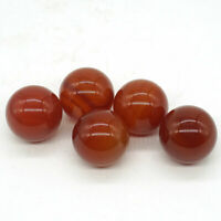 20mm Natural Carnelian Red Agate Reiki Sphere Healing Ball Home Decor 5Pc