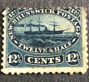 New Brunswick Victoria 12 1/2 Cent Indigo SG18 Fine Used C/V £42.00 In 2016.