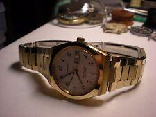 Mens Vintage N7 CARAVELLE by Bulova ElectroTime Set-O-Matic Swiss Jeweled Bul 13