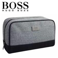 HUGO BOSS Washbag Mens Shave Toiletry Pouch Holiday Wash Bag Grey 100% GENUINE