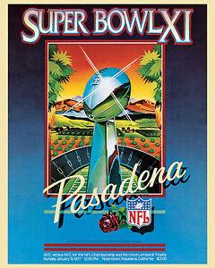 Super Bowl XI (1977 - Raiders vs Vikings) Poster of Game Program, 8x10 Photo